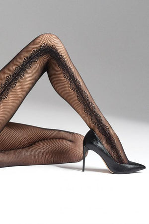 Charly P03 - Tuxedo Fishnets Tights - Erotic stockings for women - Thigh Highs - Valentin's day gift - Gift for her - Shop Leg Appeal