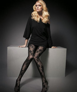PATTERNED FISHNETS - Pizzo Marianne - Fishnet Tights
