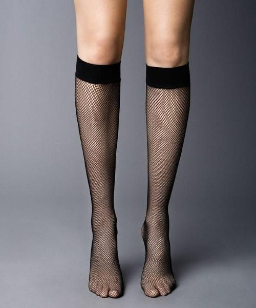 Fishnet Knee Highs - Socks