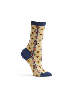 Retro Flower Stripe- Socks