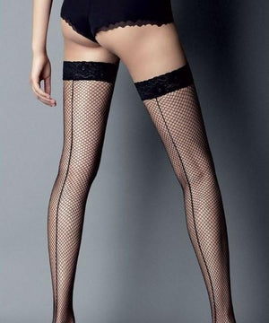 Seamed - Fishnet Stay-ups Thigh-highs