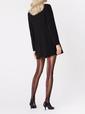Coral Tights - Patterned Tights - Sexy Thigh Highs - Sexy Hosiery - Women tights - Valentines day ideas - Shop Leg Appeal