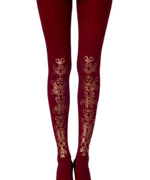 TIGHTS - Flower Girl: Burgundy Tights