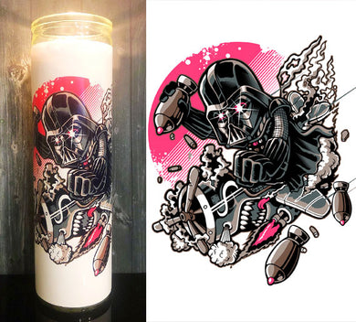 Darth Vader Dropping Bombs Scented Candle