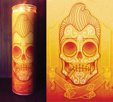 Day of the Dead, Skull Decor, Prayer Candle, Gift Idea, Good Vibes Only, Gifts for Him, Gifts for Her, Best Scented Candles, Sugar Skull