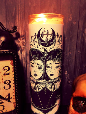 Dark Occult, Halloween Gift, Goth, Wicca, Gothic, Wiccan Moon, Mystic, Prayer Candle, Scented  Candle,  Gift Idea, Gifts for Her,