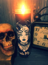 Halloween Gift, Dark Occult, Goth, Wicca, Gothic, Wiccan Moon, Mystic, Prayer Candle, Scented  Candle,  Gift Idea, Gifts for Her,