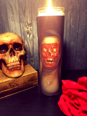 Dark Occult, Halloween Gift, Goth, Wicca, Gothic, Catholic, Witchcraft, Prayer Candle, Scented  Candle,  Gift Idea, Gifts for Her,