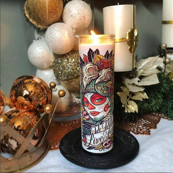 Santa Muerte, Dia De Los Muertos, Day of the Dead, Sugar Skull, Scented Candle, Prayer Candle, Gifts for Her, Best Scented Candles,