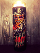 Freddy Krueger, Elm Street, Horror Decor, Nightmare on Elm Street, Wes Craven,  Man Candle, Scented Candle, Prayer Candle, Gifts for Him,