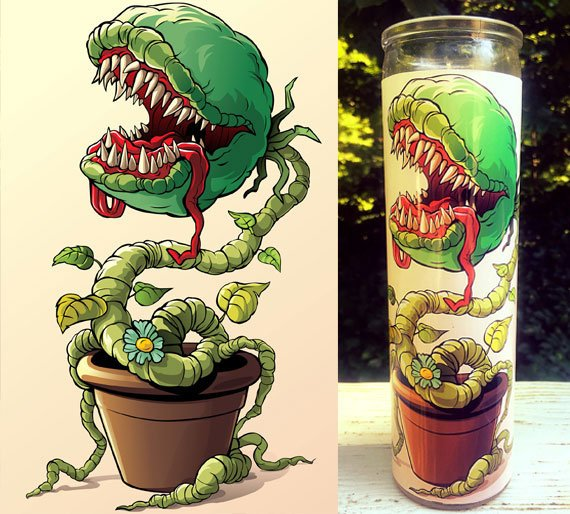 Little Shop of Horrors, Venus fly trap, Scented Candle, Prayer Candle, Candle, Gift Idea, Gifts for Her, Best Scented Candles