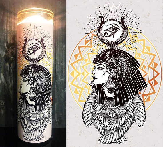 Isis Egyptian, Egyptian, Goddess, Egyptian Isis, Goddess Isis, Home Decor,Gift Idea, Gifts for Him, Gifts for Her, Best Scented Candles,