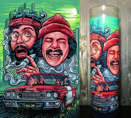 Cheech and Chong, Cheech Marine, Tommy Chong, Up in Smoke ,Half Baked, 420, Scented Candles, Candle, Stoner Decor, Good Vibes,