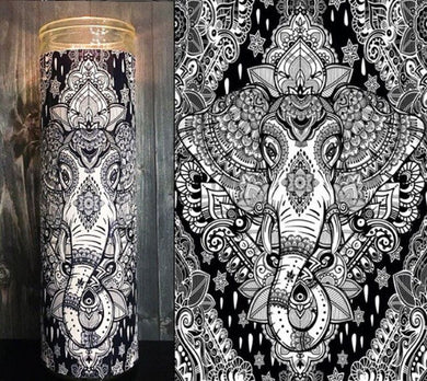 Boho elephant decor, Modern Hippie Decor,  Boho Art, Scented Candle, Prayer Candle, Gift Idea, Gifts for Her, Best Scented Candles,