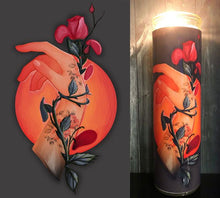 Flash Tattoo Art, Roses, Tattoo Art, Hipster, Home Decor, Red Roses, Scented  Candle, Prayer Candle, Candle, Gift Idea, Gifts for Her,