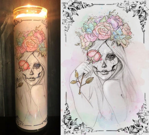 Boho Sugar Skull Scented Candle