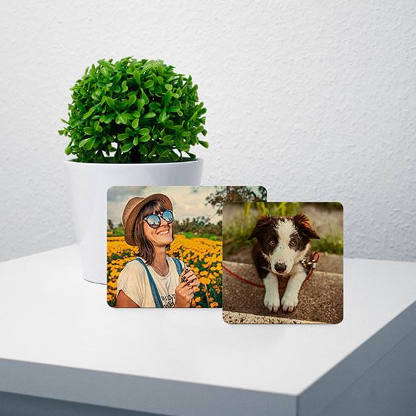 Personalised stand up wooden photo display