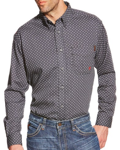 Ariat Men's FR Tyler Printed Long Sleeve Shirt #10018132