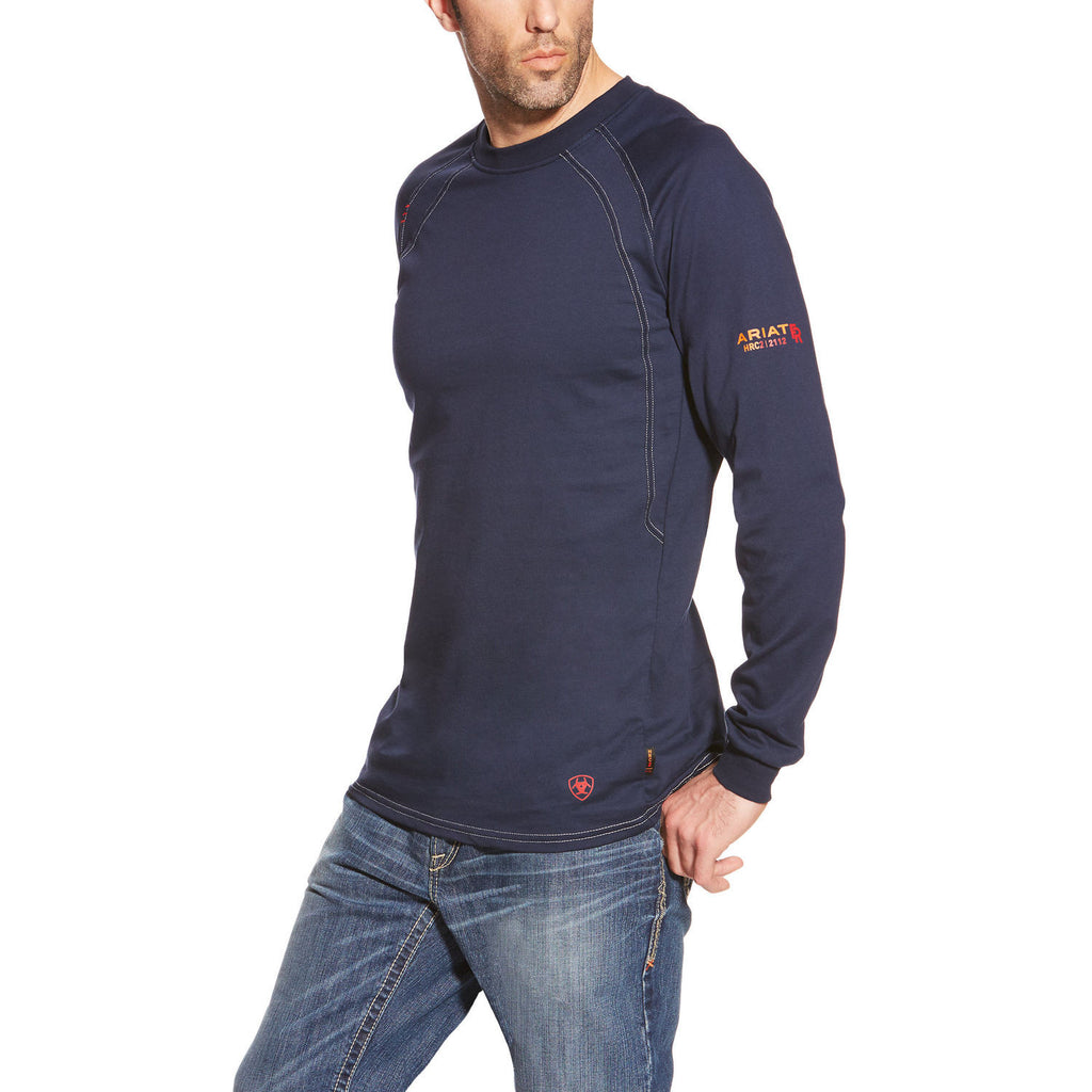 Ariat FR Navy Long Sleeve Work Crew Shirt #10012256