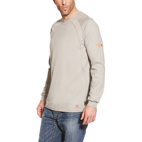 Ariat FR Silver Fox Long Sleeve Work Crew Shirt #10012258