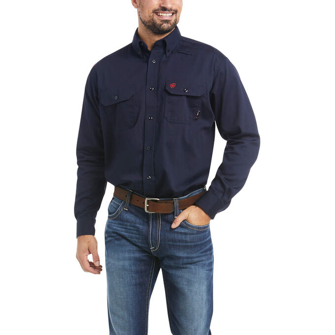 Ariat Flame Retardant Solid Button-Down Work Shirt