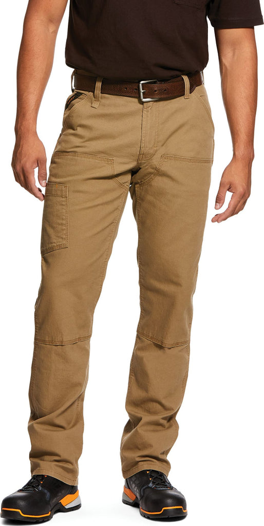 Ariat Rebar M4 Low Rise DuraStretch Made Tough Double Front Stackable Straight Leg Pant, Khaki #10030232