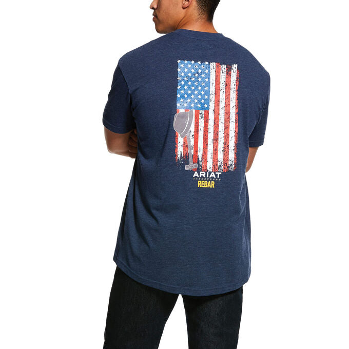 Ariat Rebar Cotton Strong American Grit Graphic T-Shirt