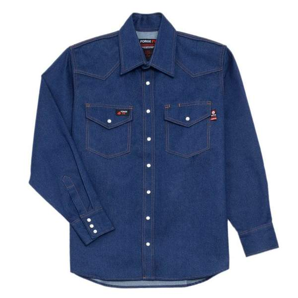 Forge FR Denim Snap Front Shirt #MFRSLD-002-DENIM