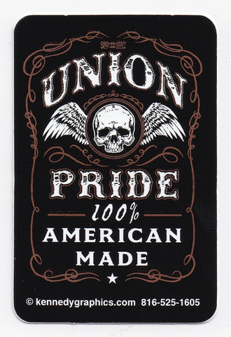 Union Pride, 100% American Made Hardhat Sticker S-101