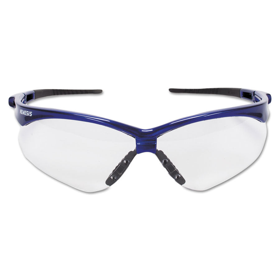 Nemesis Clear Lens Blue Frame Safety Glasses #47384