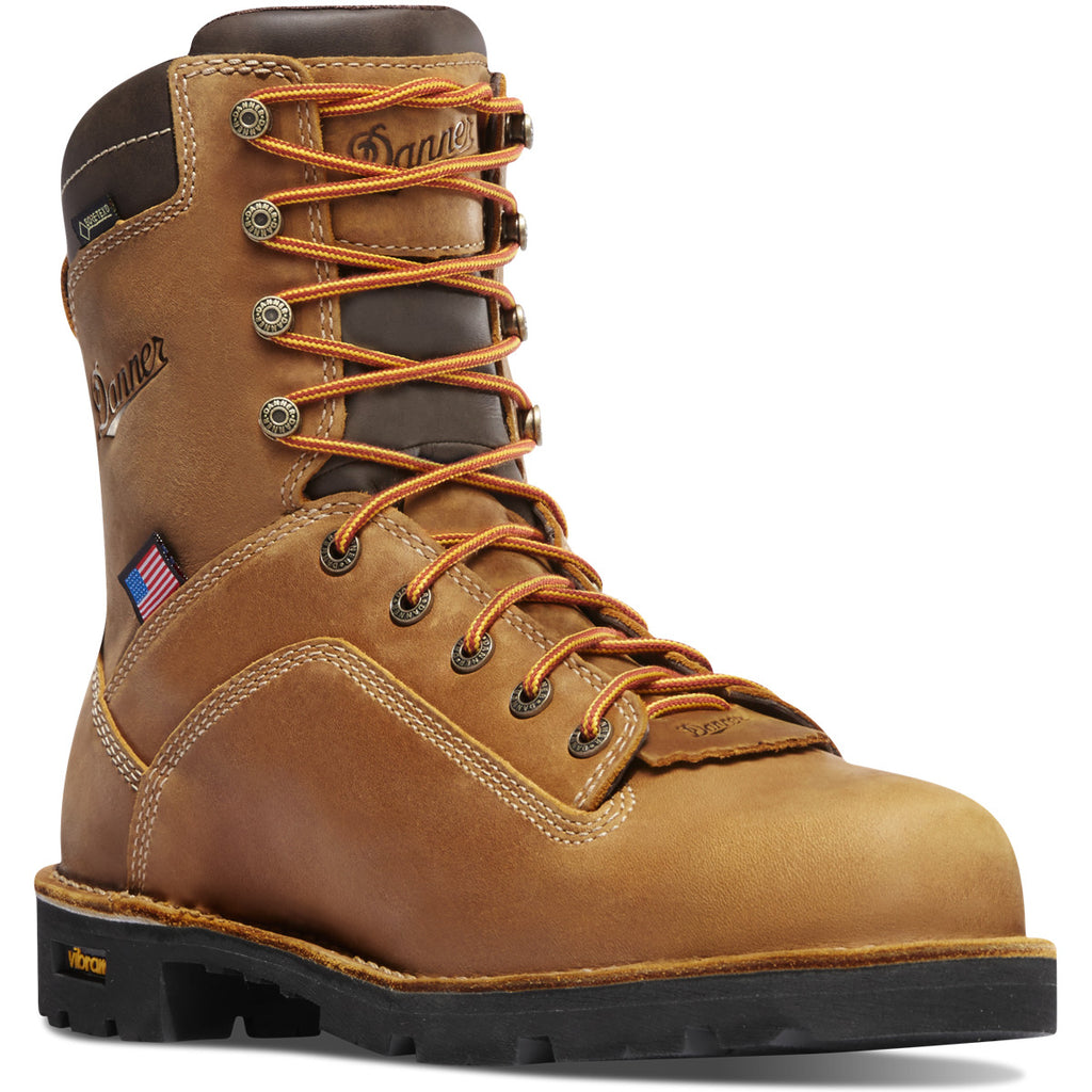 DANNER QUARRY BROWN LEATHER LACE UP WORK BOOT
