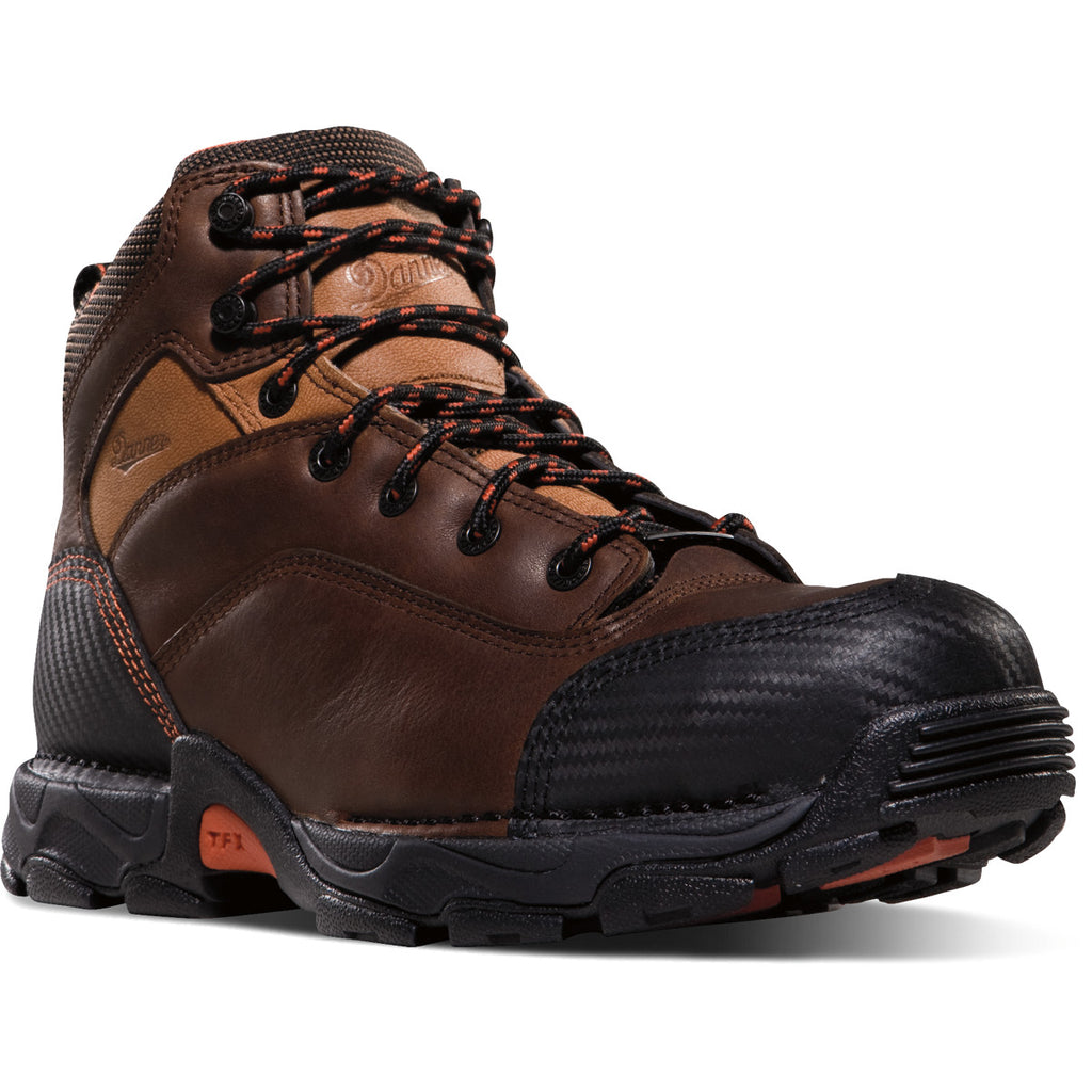 DANNER BROWN LEATHER LACE UP WORK BOOT