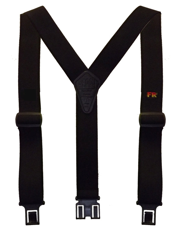 Perry Certified Flame Retardant Suspenders-Black