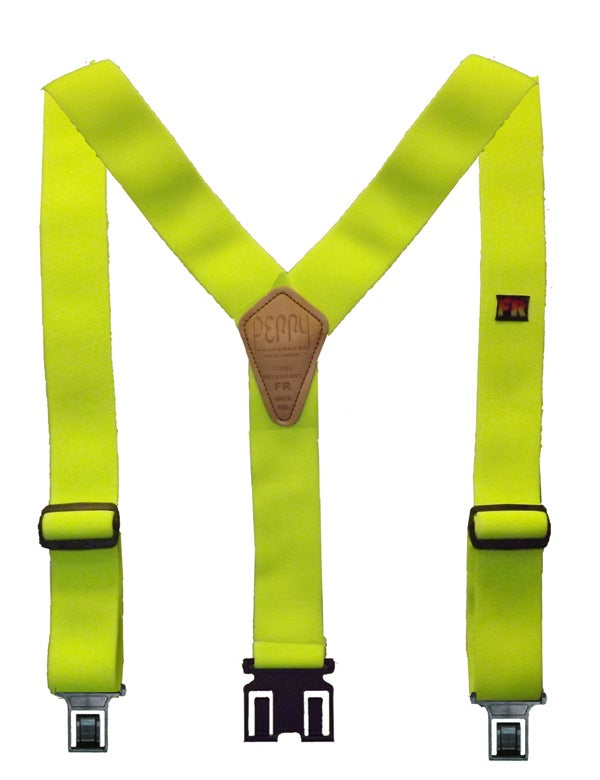 Perry Flame Retardant Suspenders- Lime