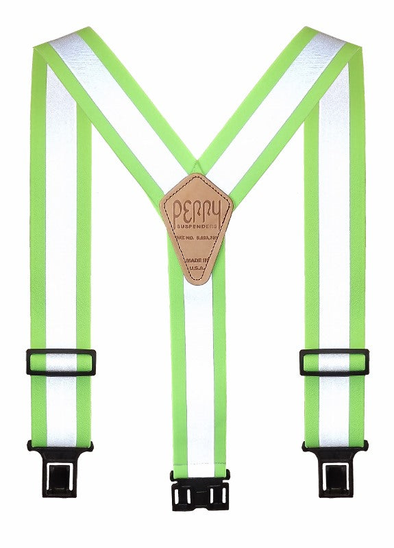 Perry Hi-Viz Lime Suspenders With Reflective Stripes