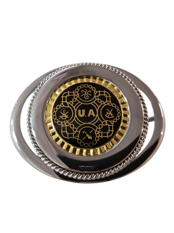 Union Pipefitter Belt Buckle in Black/Gold #BW-BB-PG