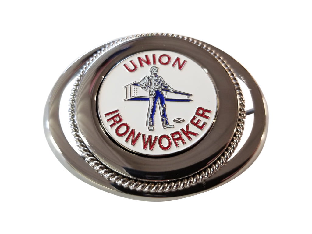 Ironworker 'Man & Beam' Belt Buckle #BW-BB-MB