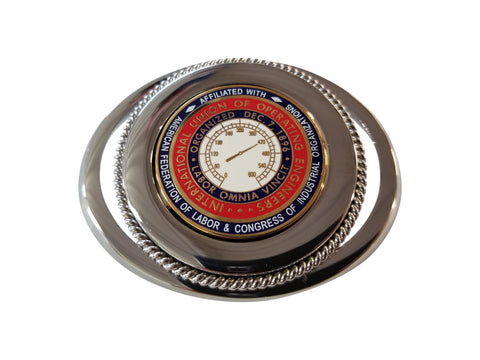 Union Operating Engineers Powerhouse Belt Buckle #BW-BB-OE