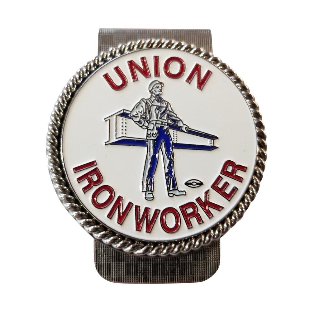 Union Ironworker 'Man and Beam' Money Clip #BW-MC-MB