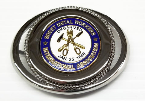 Union Sheet Metal Powerhouse Belt Buckle #BW-BB-SM