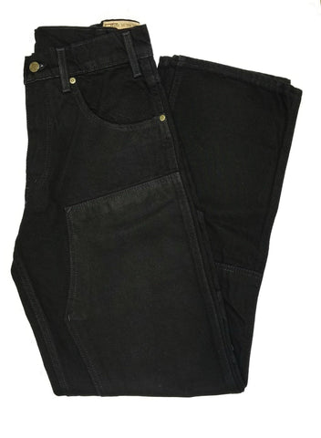 Prison Blues Black Double Knee Denim #1231212
