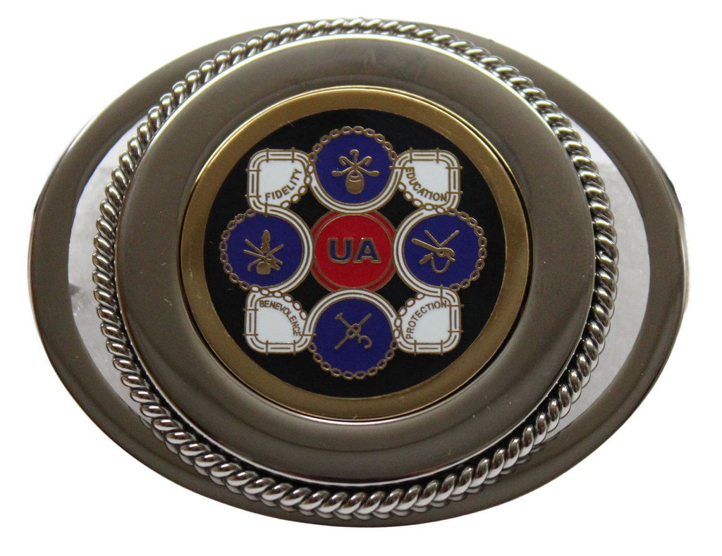 Union Pipefitter Belt Buckle in Color #BW-BB-PC