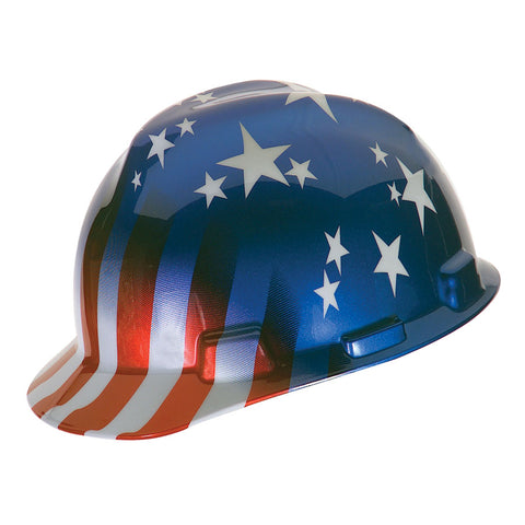 MSA V-Gard Stars and Stripes Cap Hard Hat #10052945