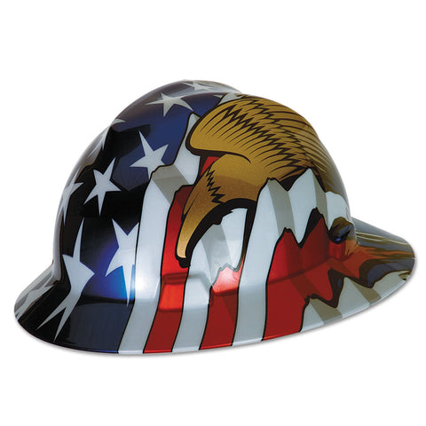 MSA Full Brim With USA Flag and Eagles #10071159