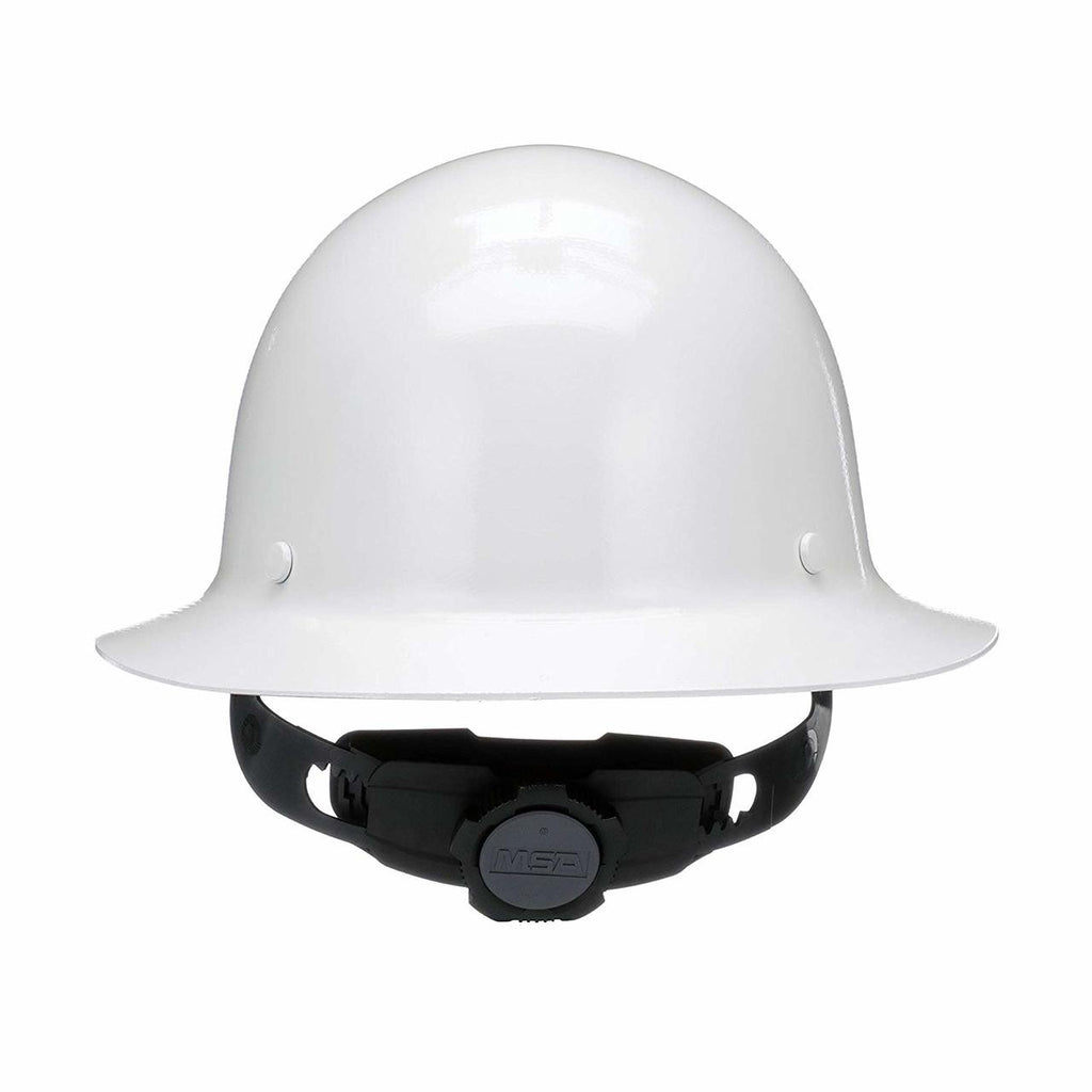 MSA White Skullgard Full Brim Hard Hat #475408