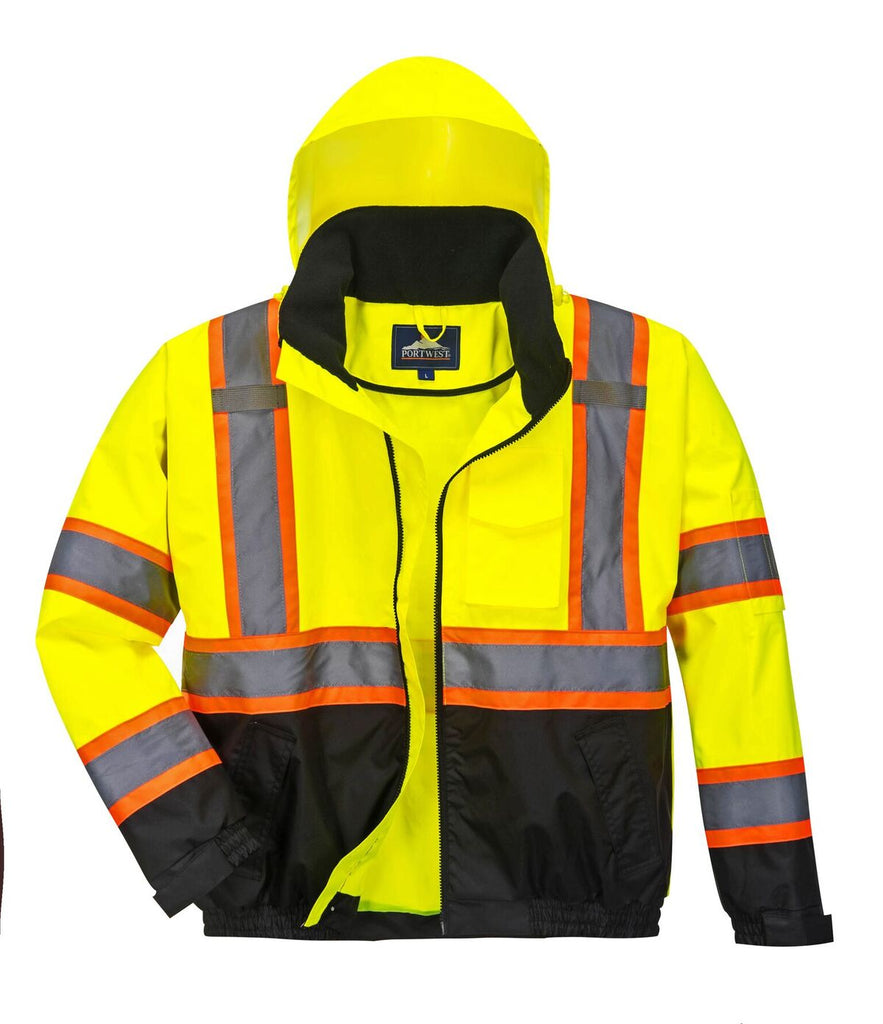 Portwest Hi-Vis Contrast Tape Bomber Jacket - US368