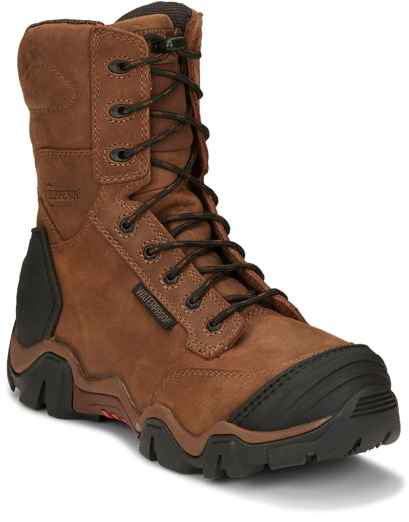 "Chippewa Atlas 8"" Lace-Up Safety Toe Boot #50013"