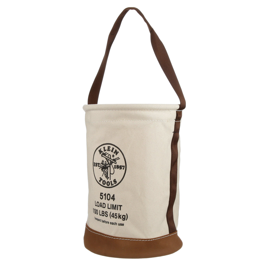 Klein Leather Bottom Canvas Bucket #5104