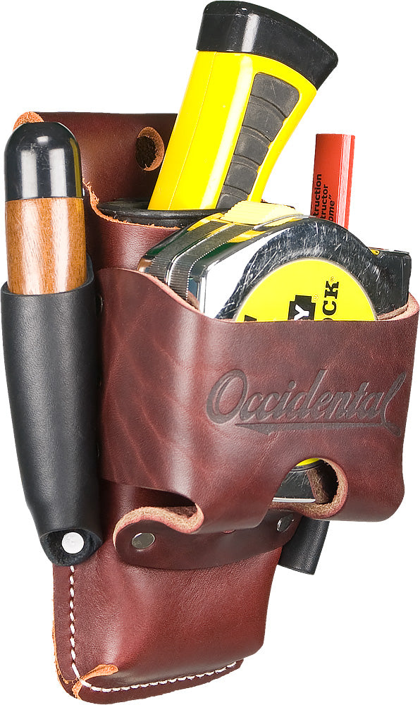 Occidental Leather Belt Worn 4 In 1 Tape/Tool Holder #5522