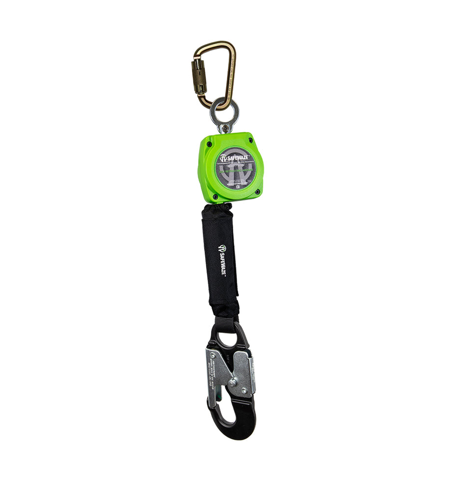 Safewaze 6' Web Retractable with Aluminum Snap Hook & Steel Carabiner